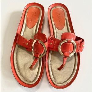 Cole Haan Nike Air Orange Sandals - Sz 7.5